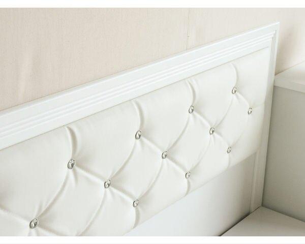 床組【YUDA】 5尺純白雙人 黛曼特(床頭片+床底+床頭櫃)3件組 床架組/ 床底組/床組