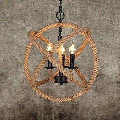 【威森家居】北歐 圓球麻繩吊燈 現貨原木工業風現代簡約復古吸頂燈吊燈壁燈大廳客廳臥室陽台燈具LED設計師 L170205