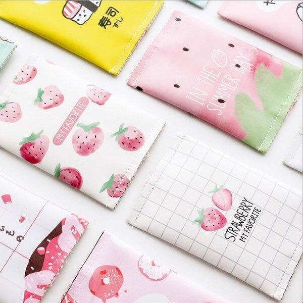 零錢包-小清新草莓粉嫩系迷你隨身零錢包 收納包 鑰匙包 (1入) 【AN SHOP】