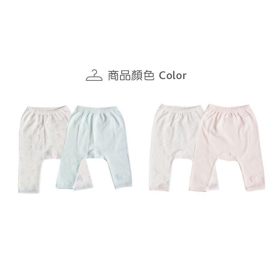 【chicco】動物初生褲2入-粉藍(3M/6M)