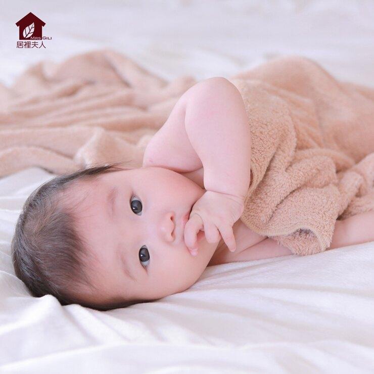 嬰兒浴巾/洗澡/彌月禮-73*145cm [個性棕]-長毛絨溫柔觸感,超強吸水力-不掉毛,不引發過敏-居裡夫人