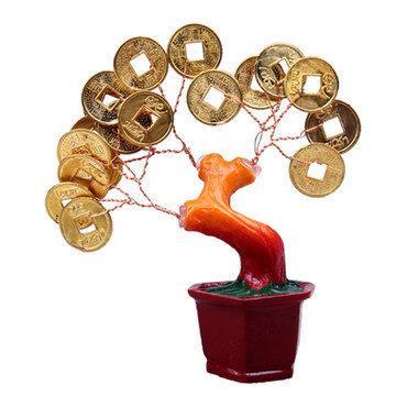 開光金錢樹招財樹小擺件招財旺運家飾發財樹家居工藝品擺件