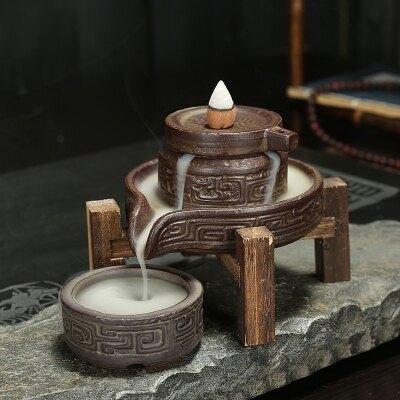 倒流香爐家用時來運轉創意禪意大號茶道檀香擺件 格蘭小舖 聖誕節禮物