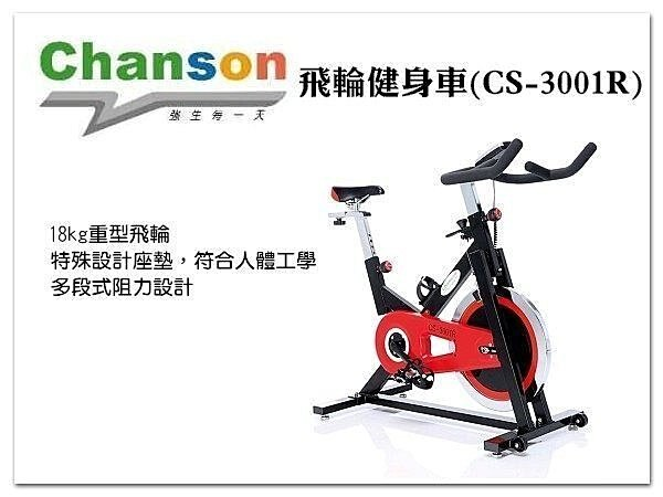 【H.Y SPORT】 《強生CHANSON》CS-3001R飛輪健身車  免運