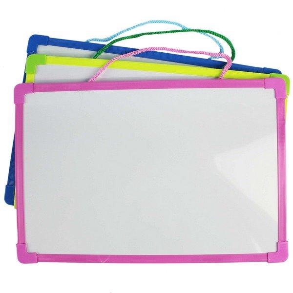 小白板 磁性小白板 20cm x 30cm/一件72個入(促59) NO-6205 雙面白板 磁鐵白板-AA6579