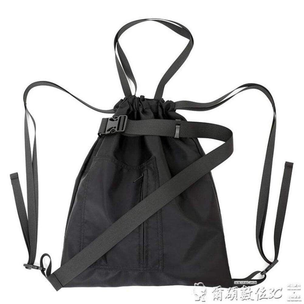 尼龍包束口袋尼龍運動健身包旅行袋男女中性單肩手提抽繩包書包雙肩背潮 年貨節預購