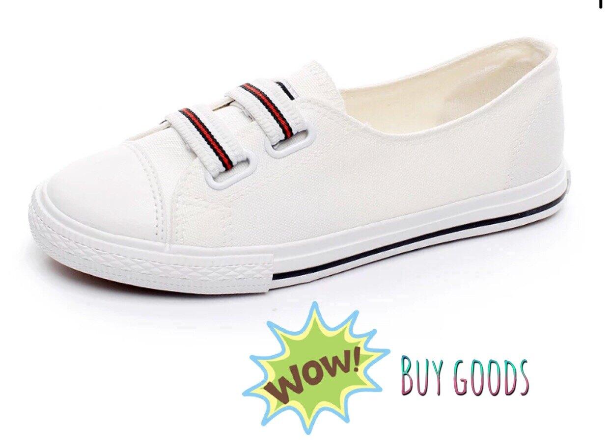 韓版懶人鞋 帆布鞋 時尚百搭布鞋