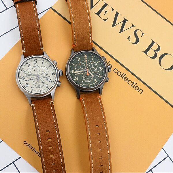 TIMEX/天美時 Scout Chrono 三眼計時 手錶/TXT4B04400 綠面