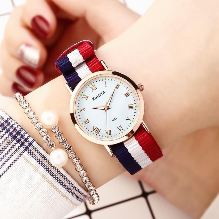 韓版簡約手錶女夜光中學生情侶手對錶時尚潮流2019新款石英男女錶