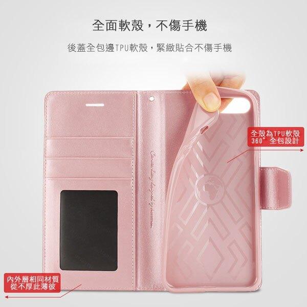 美人魚【Hanman 仿羊皮】Samsung Note 9 N960F 6.4吋 斜立支架皮套/翻頁式側掀保護套