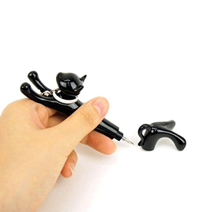 又敗家@大西賢製販Abeille造型貓筆920-CP貓造型筆0.3mm油性筆貓原子筆0.3mm圓珠筆皇上0.3mm原子筆
