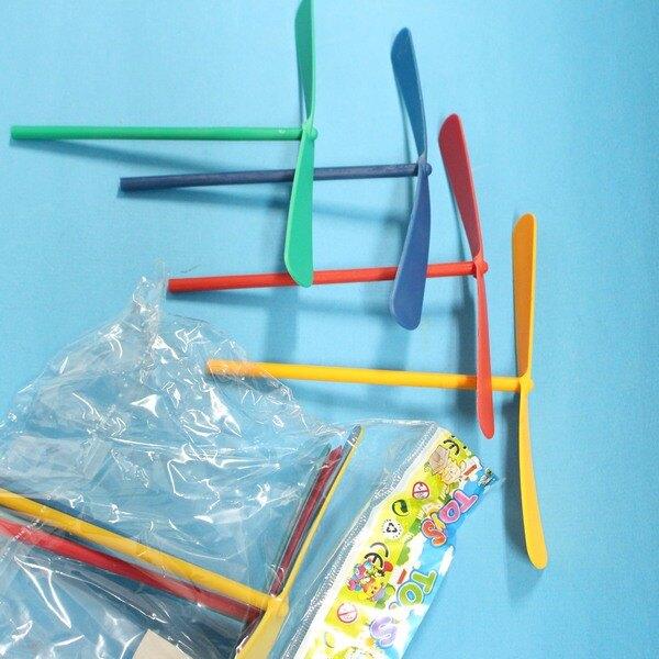 T型 竹蜻蜓 成品塑膠竹蜻蜓 童玩/一包4支入(定15) 佳PA35010A