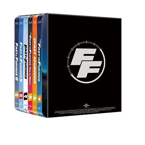 玩命關頭1-6 限量鐵盒版 Fast & Furious steelbook collection (BD)