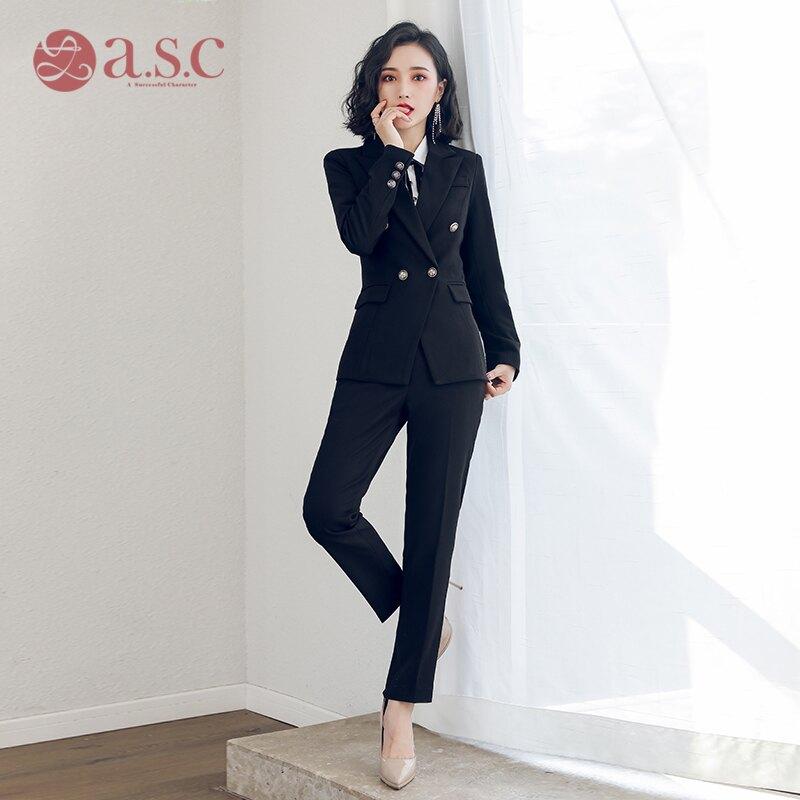 全家免運 商務套裝首選 英倫風黑色西裝 套褲  制服訂做