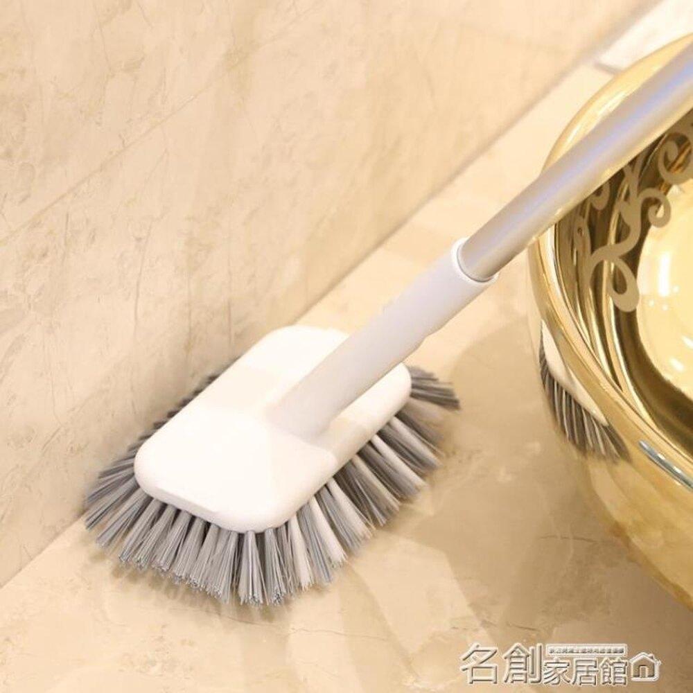 清潔刷 長柄硬毛洗地刷子墻面瓷磚浴室衛生間廁所地板地磚水池清潔刷 名創家居館