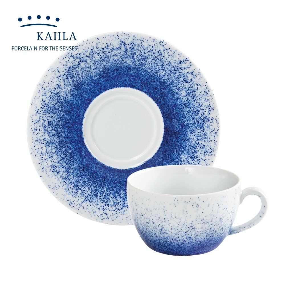 德國KAHLA 藍調之美(揮灑Spraying)-250ML杯盤組