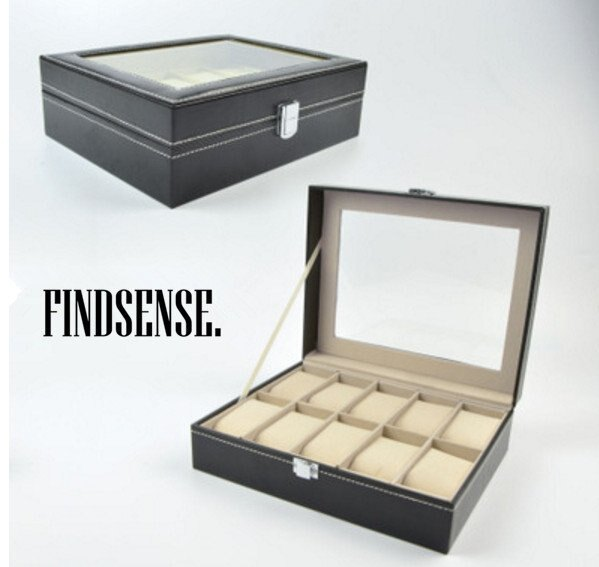 12入 非大陸貨 高級送禮 收納 收納箱 收納手錶 手錶收納 首飾盒珠寶飾品盒化妝盒收納箱 收納箱 收納大王