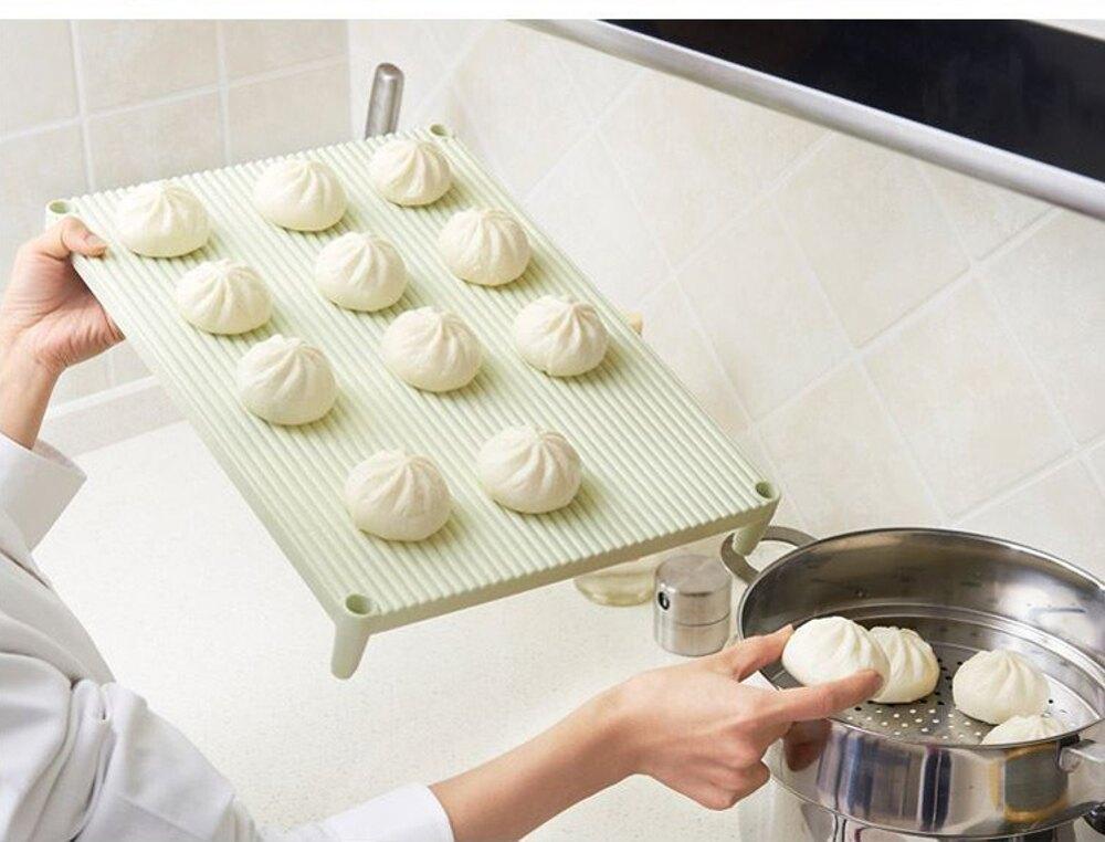 三層餃子托盤可疊加餃子墊放餃子的蓋簾家用包子餐墊水餃盤餃子簾   【歡慶新年】