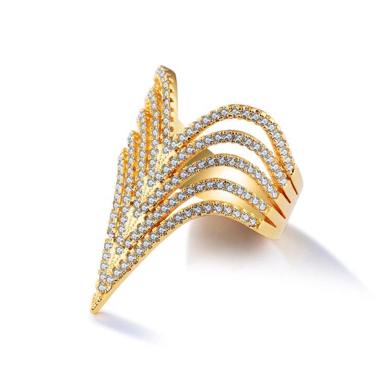 【5折超值價】情人節禮物新款歐美風格鑲鑽特色銅鍍女款戒指