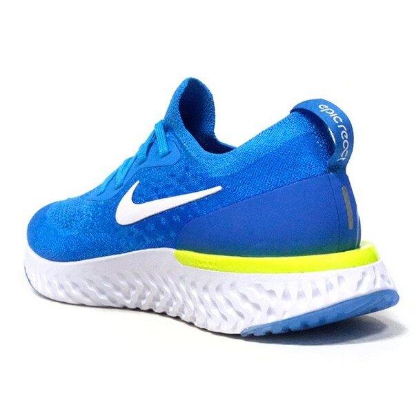 【日本海外代購】Nike Epic React Flyknit 藍 水藍 白底 雪花 慢跑 男 AQ0067-401