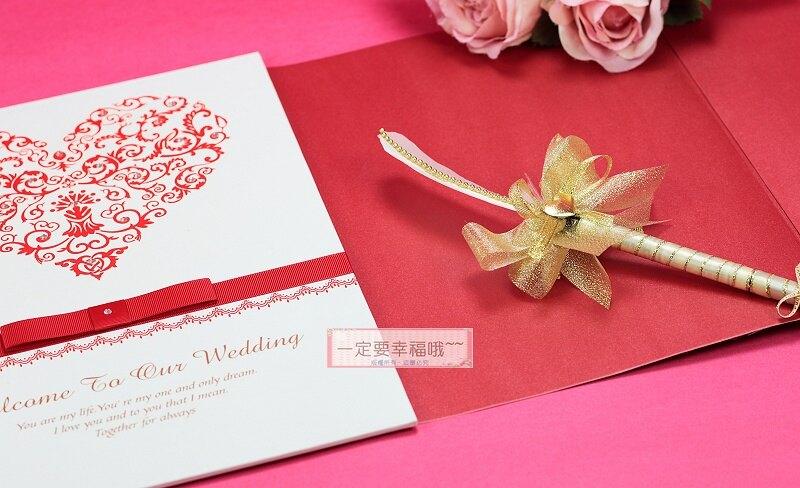 真愛之心簽名本(紅)、簽名冊、簽名簿、結婚宴會