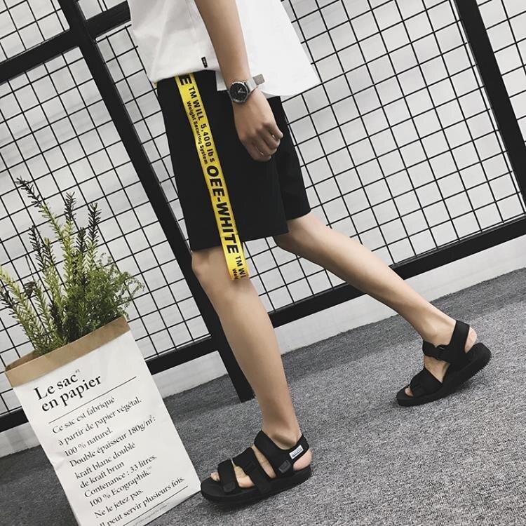 [超豐國際]潮夏季細款男式運動氣質百搭寬松五分中褲子5分褲情