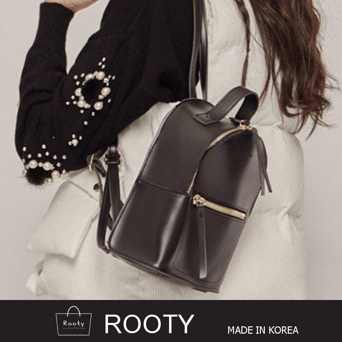 後背包 正韓Rooty百搭質感女用皮革背包(小)11色可選 書包 NO.R374