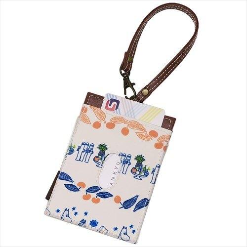 小不點 票卡套 證件套 悠遊卡套 附 掛繩 棕色 皮革 嚕嚕咪 Moomin 日貨 正版 授權 J00030166