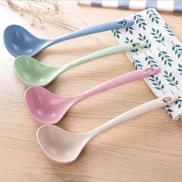 湯勺-韓系北歐環保無毒小麥秸稈 湯勺 湯匙 廚房小物【AN SHOP】