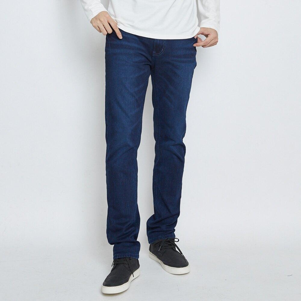 EDWIN JERSEYS 迦績 大尺碼 復古棉 中直筒牛仔褲-男款 酵洗藍 零碼