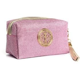 女性の化粧品袋防水ポーチを運ぶアニス背景ウォッシュバッグ(ピンク)