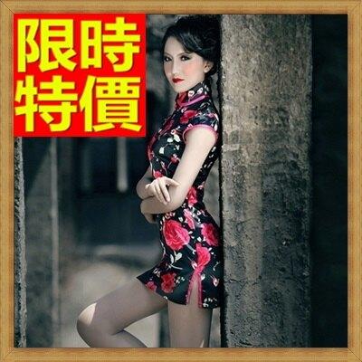 旗袍短禮服-唐裝立領超短性感復古中式女連衣裙64ae5【獨家進口】【米蘭精品】