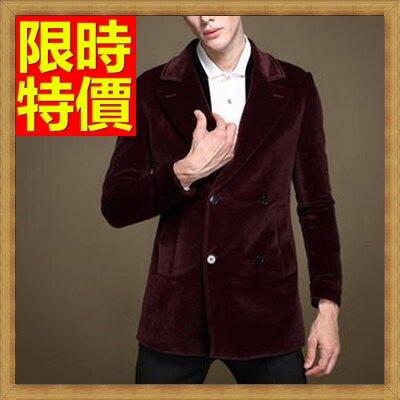 西裝外套男西服-金絲絨兩顆雙排扣寬領型修身男外套1色65b27【獨家進口】【米蘭精品】