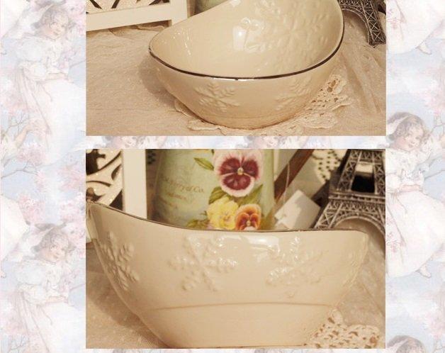 元寶陶瓷碗 雪花浮雕沙垃碗 湯碗 面碗 小菜碗