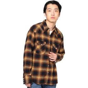 (ビームス)BEAMS/カジュアルシャツ Wrangler × BEAMS 別注 ネルチェック ウエスタン シャツ 19FW メンズ BROWN M