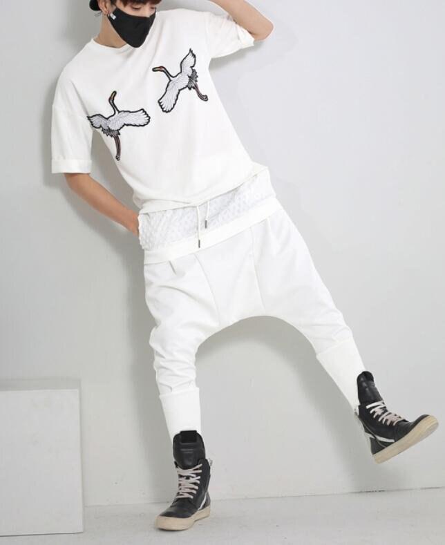 FINDSENSE MD 韓國 男 街頭 時尚 黑白兩色 蝙蝠褲 哈倫褲 寬檔休閒褲 潮人款 休閒長褲