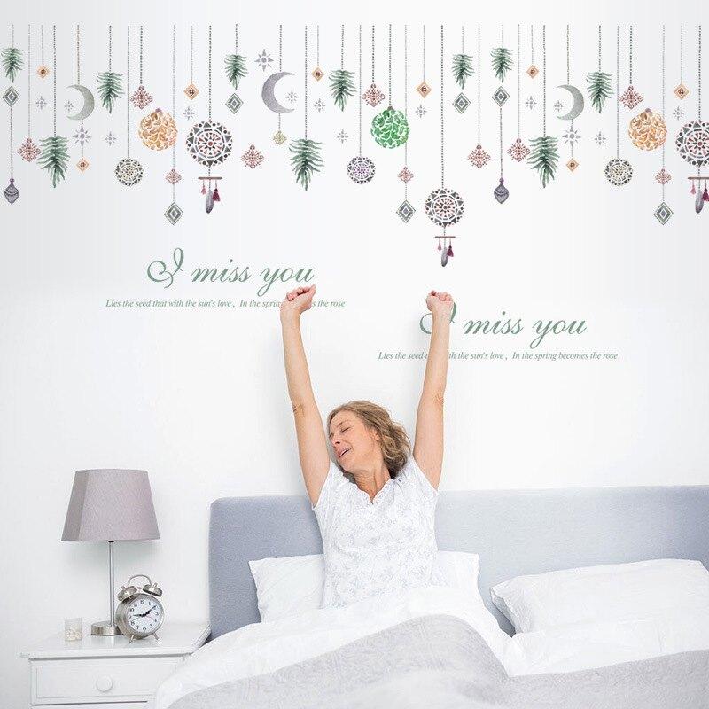 WallFree窩自在DIY牆貼/壁貼 居家裝飾 北歐風浪漫珠簾 60X90窩自在