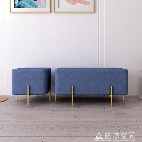 北歐創意進門客廳換鞋凳家用床尾小凳子門口沙發衣帽間穿鞋長條凳 NMS 清涼一夏特價
