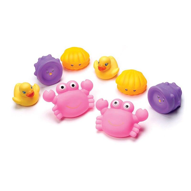 Playgro培高 - 軟膠洗澡玩具組 粉紅小蟹