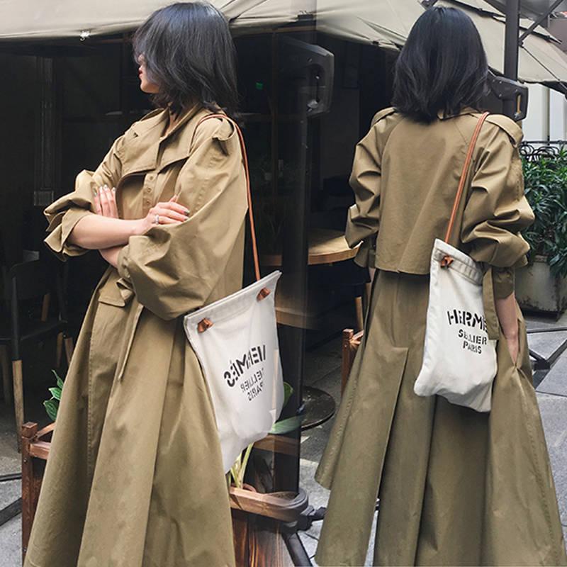 風衣外套長版大衣-腰帶收腰顯瘦純色女外套2色73wd3【獨家進口】【米蘭精品】