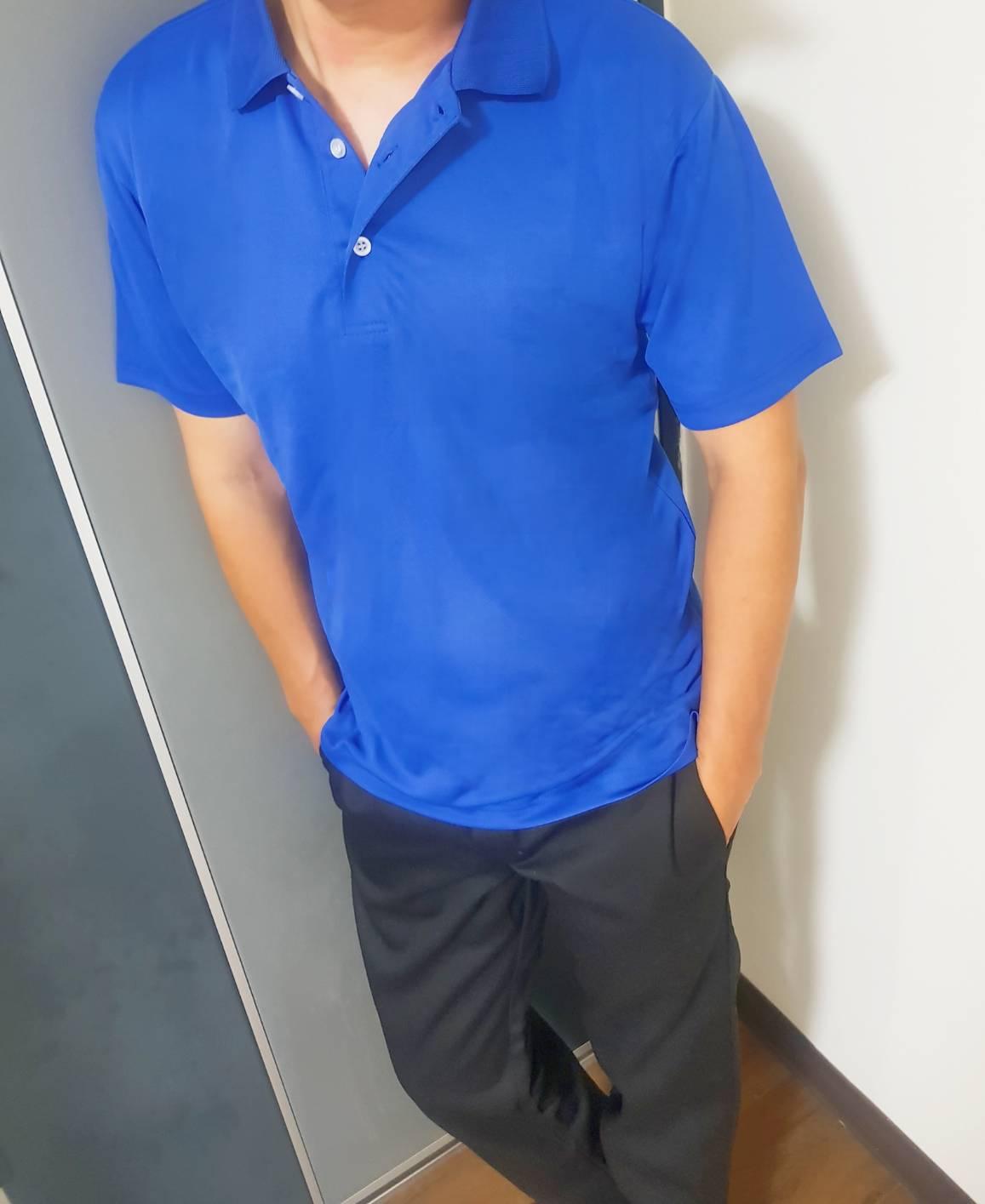 吸濕排汗POLO衫(寶藍)