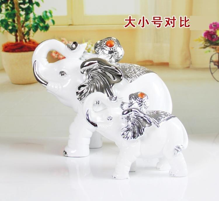 大象擺件大號一對 招財吉祥風水擺設電視櫃酒櫃擺件工藝飾品