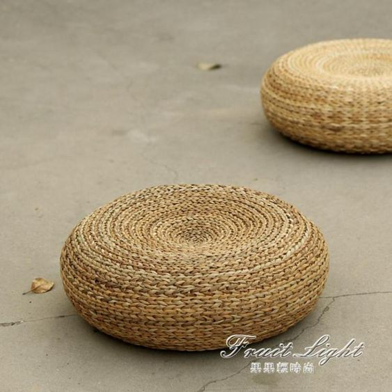 蒲團日式坐墊加厚圓形茶道藤編榻榻米瑜伽打坐禪修墊地板坐墩 NMS