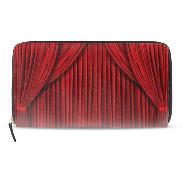 個性財布 長財布 レディース 赤の抽象財布 人気 大容量 小銭入れ 人気 大容量 PU革 レザー 12枚カード入れ可能