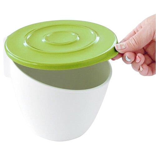 【促銷】日本製造HACHIMAN流理台抗菌吸盤收納筒(芥末綠)