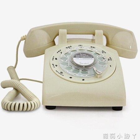 復古電話機經典老式轉盤旋轉撥號電話仿古辦公家用固話座機金屬鈴 NMS蘿莉小腳ㄚ 清涼一夏钜惠