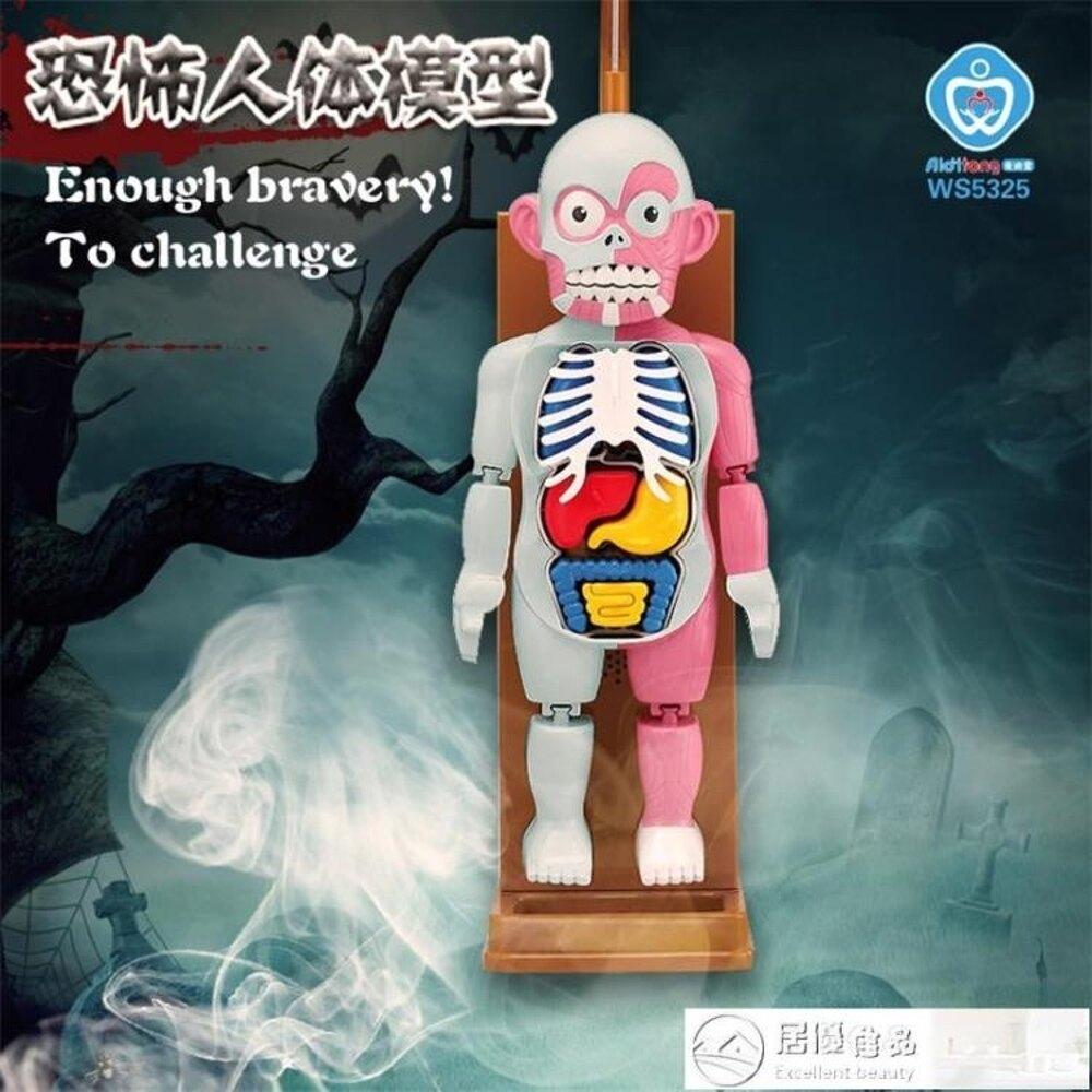 整蠱玩具 文盛ws5323 人體模型拼裝玩具恐怖惡搞整蠱器官認知益智兒童玩具 清涼一夏特價