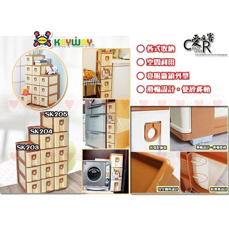 五層連環隙縫櫃 SK-205 KEYWAY 置物櫃 收納櫃 抽屜整理櫃 縫隙櫃 SK205