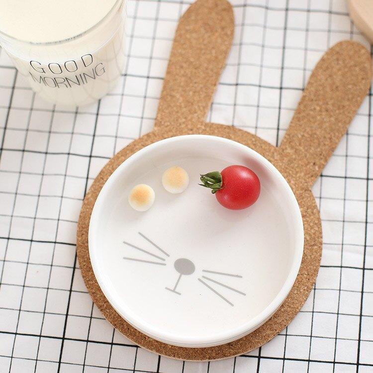 [現貨] 兔然不想說 陶瓷盤+隔熱墊組 YAU4916