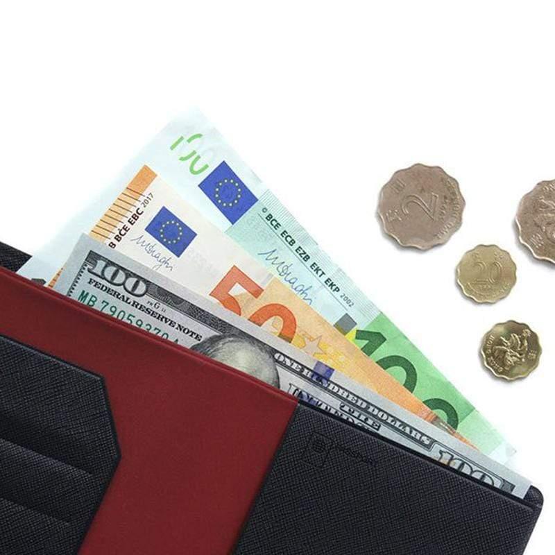 可放鈔票式護照套 (深藍) S size